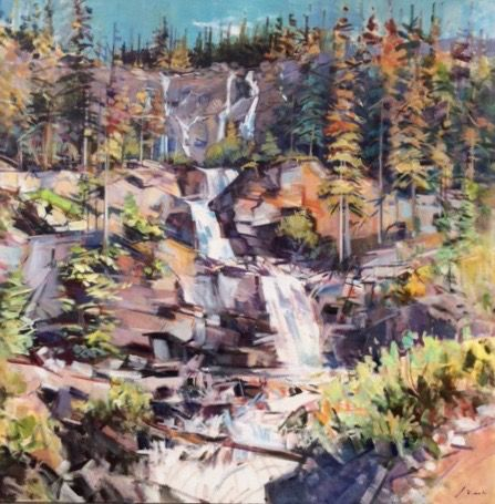 "'Tangle Falls' 66"" x 66"" Acrylic on Canvas by Artist Jim Vest"