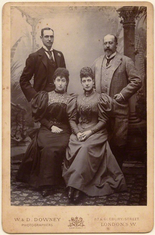Wings of Whimsy: Prince Charles of Denmark, Princess Maud of Wales, Alexandra, Princess of Wales, George, Prince of Wales 1896