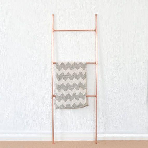 Kupferrohr-Leiter für Decken Handtücher von LittleDeerEtsy auf Etsy