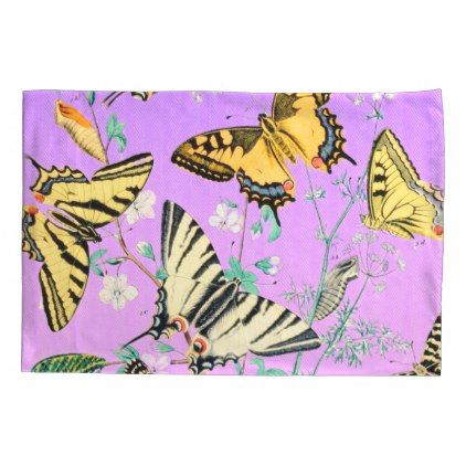 #Butterfly Mix Purple Pillow Case - #Pillowcases #Pillowcase #Home #Bed #Bedding #Living