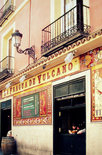 Madrid, Spain - reminds me of a night on the town with Torrejon AFB friends...tapas, wine, paella...savory memories!