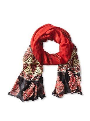 59% OFF MILA Trends Women's Chiffon Batik/Hand Block Print Scarf, Rose, One Size