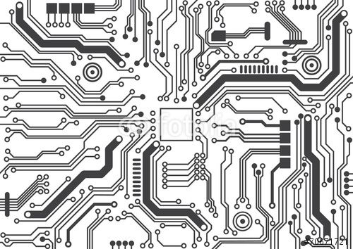 Vector: circuit board background texture