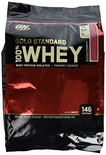 Optimum Nutrition Gold Standard 100% Whey Delicious Strawberry -- 10 lbs -- You can get additional details at the image link.