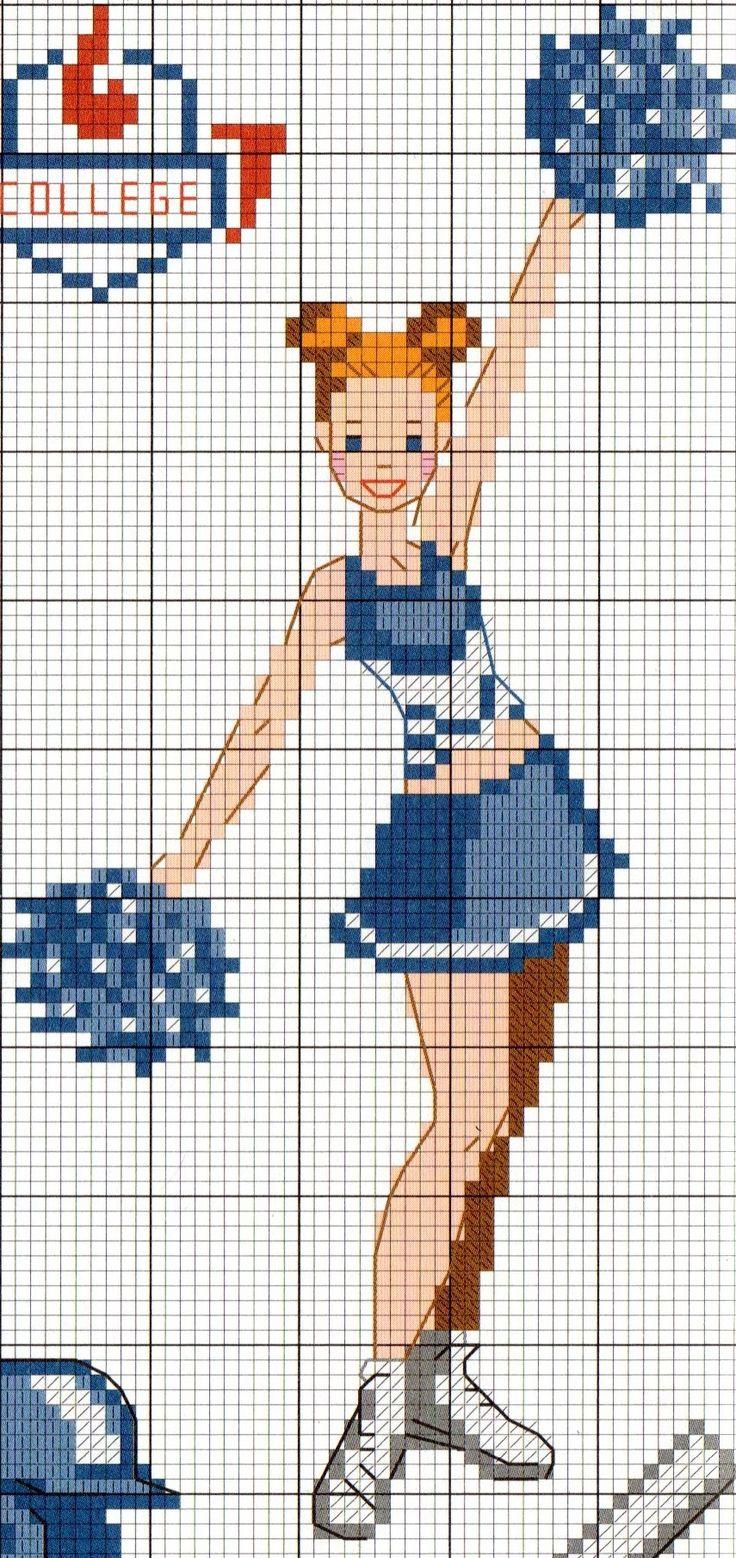 Cheerleader cross stitch