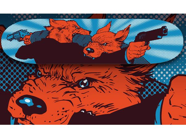 Great Screen printed, Skate Deck. I own one of the limited edition decks. So Awesome!