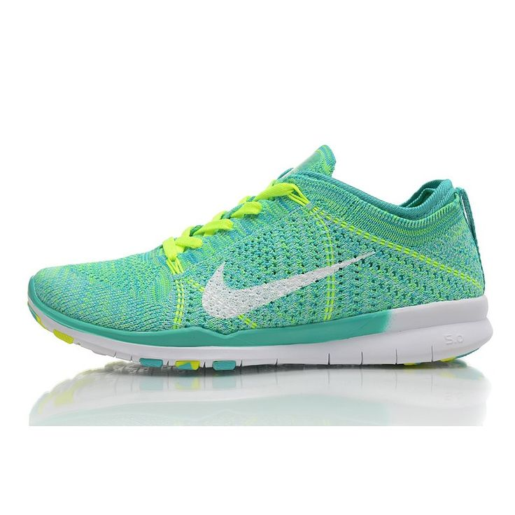 2015 Newest Nike Free Flyknit Knit Vamp Mens Running Shoes On Sale For  Cheap Green Yellow