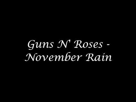 Guns N' Roses - November Rain ( Inglés - Español ) + ( Clip Solos ) HD 720p HQ - YouTube
