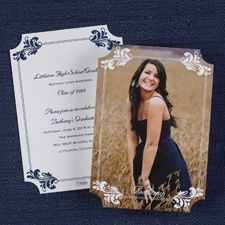 College Graduation Announcements Invitations with Fancy Flourishes, Also Ideal for University Graduates Item Number:GYP26570