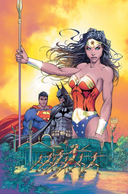 Wonder Woman, Batman & Superman by Michael Turner