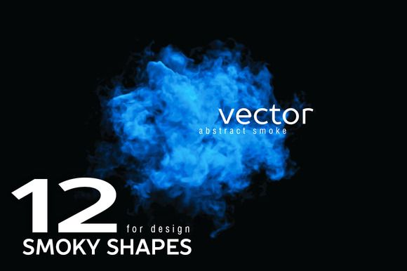 Vector smoky shapes by julvil on Creative Market