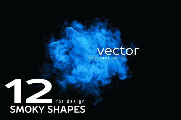 Vector smoky shapes by julvil on Creative Market