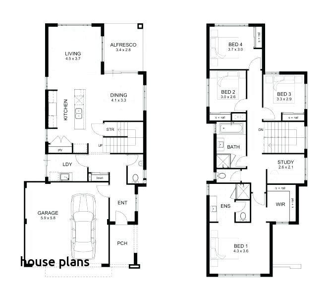5 Bedroom Floor Plans In 2020 Double Storey House Plans 4 Bedroom House Plans Double Storey House