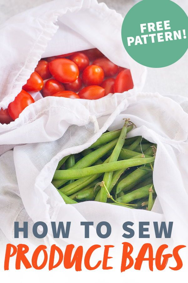 How to Make Easy Reusable Produce Bags