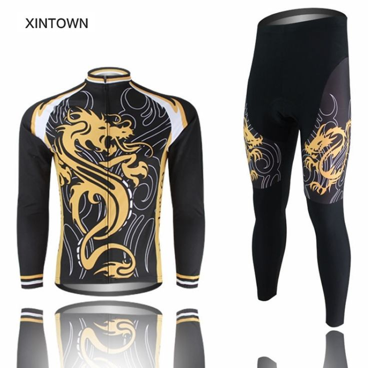 36.92$  Buy here - http://aliwdn.shopchina.info/go.php?t=32801744247 - XINTOWN Team Bicycle Thermal Fleece Ropa Ciclismo Long Sleeve Sportswear Outdoor Cycling Jersey Bike Jacket Pants Suit 36.92$ #magazine