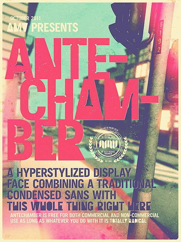 Antechamber a free typeface by alex varanese