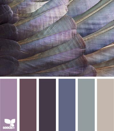 feathered tones  Lovely! Ideal for your bedrooms. These colors have calming effect like lavander shades they include.