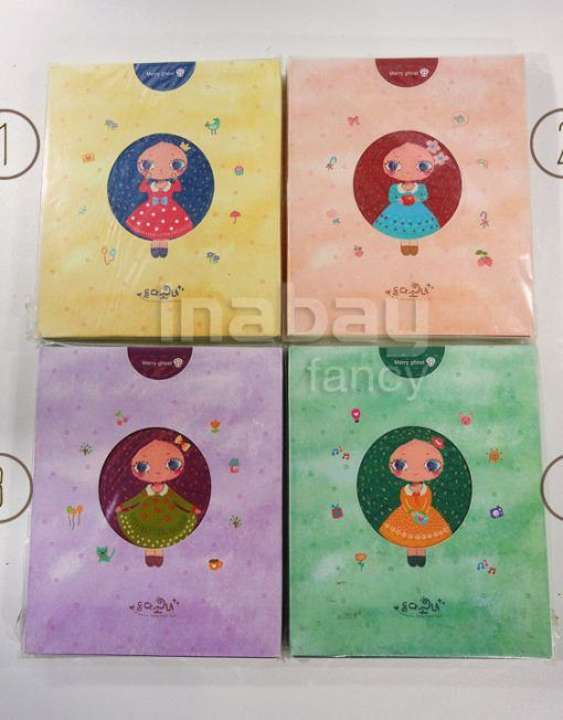 Buku Tulis / Notebook Fancy Korea - Little Girl (Isi bergambar)