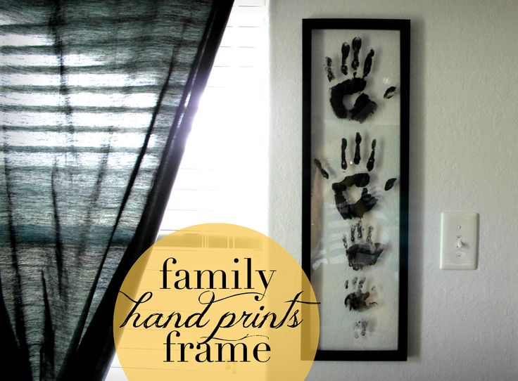 Family Handprints Frame....and a way to include Lindsey's