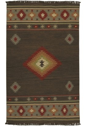 I also like the Southwestern motif.: Southwestern Kilim, Rugs Jt1035, Area Rugs, Surya Jewelton, Jewels Tones, Brown Area, Tones Brown, Surya Jewels, Southwestern Rugs