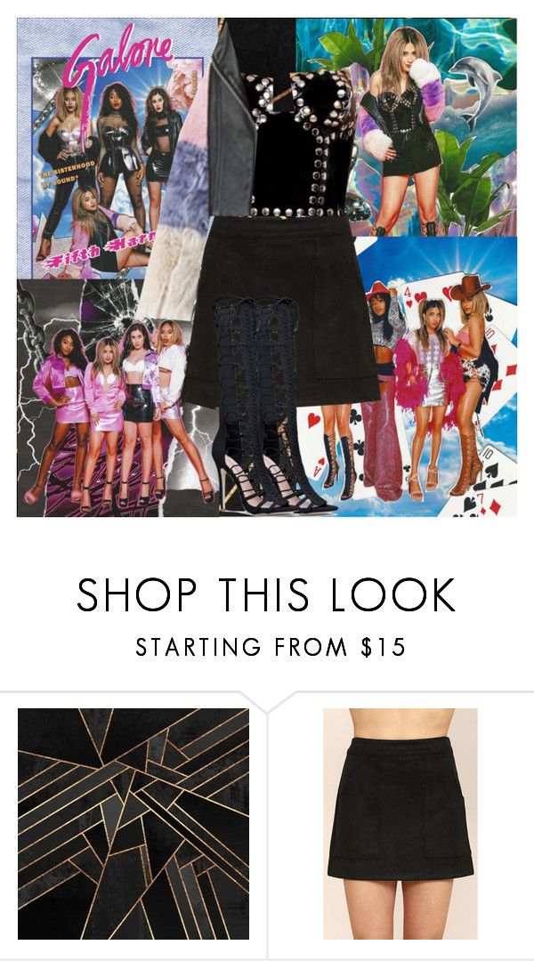 """Fifth Harmony~Ally Brooke~Galore Magazine April 2017"" by tvshowobsessed ❤ liked on Polyvore featuring Honey Punch"