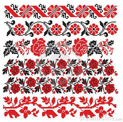 russian embroidery | Ukrainian Romanian Russian Embroider Stock Images - Image: 12770644