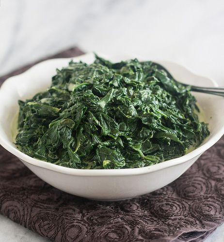 Skinny Creamed Spinach @Tracey's Culinary Adventures I Tracey ...