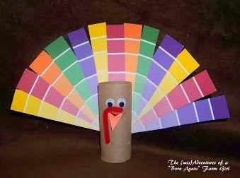 """The (mis)Adventures of a """"Born Again"""" Farm Girl: Paint Chip Turkey"""