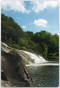 Marble Falls. Make sure to visit the Bluebonnet Cafe. Best pie in Texas.