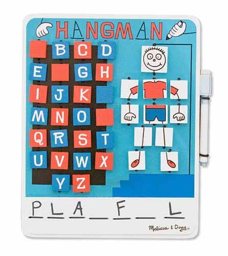 Our Early Literacy Teacher's Top Game  Pick for Travel. Melissa & Doug's Flip to Win Hangman <3 it :-)  Sale $14.99