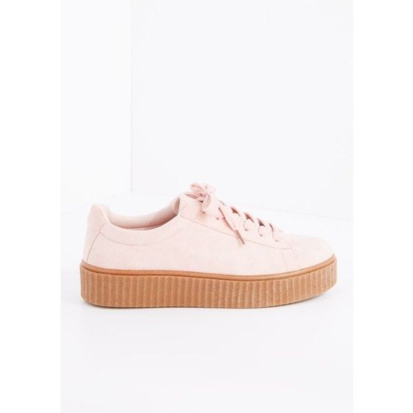 Pink Faux Suede Creeper Sneaker | High Top Sneakers | rue21 ❤ liked on Polyvore featuring shoes, sneakers, high top trainers, pink creeper shoes, high-top sneakers, creeper sneakers and pink trainers