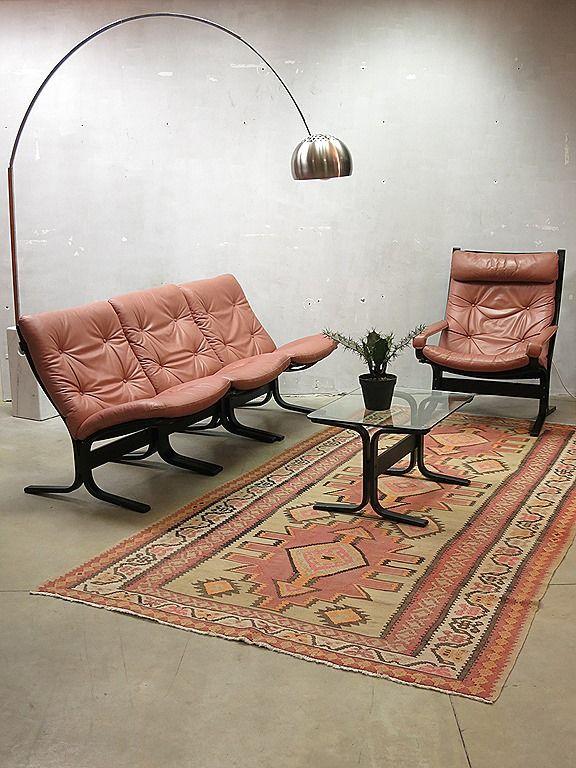 Westnofa vintage design lounge set sofa armchair Siesta chair hocker Norway Ignmar Relling