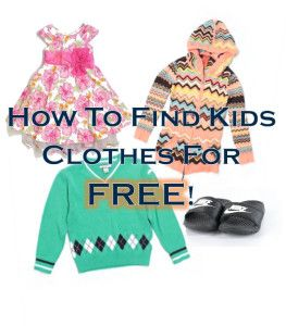 Great tips on scoring kids clothes for free! Discounted kids clothes, free clothing, save money on clothes