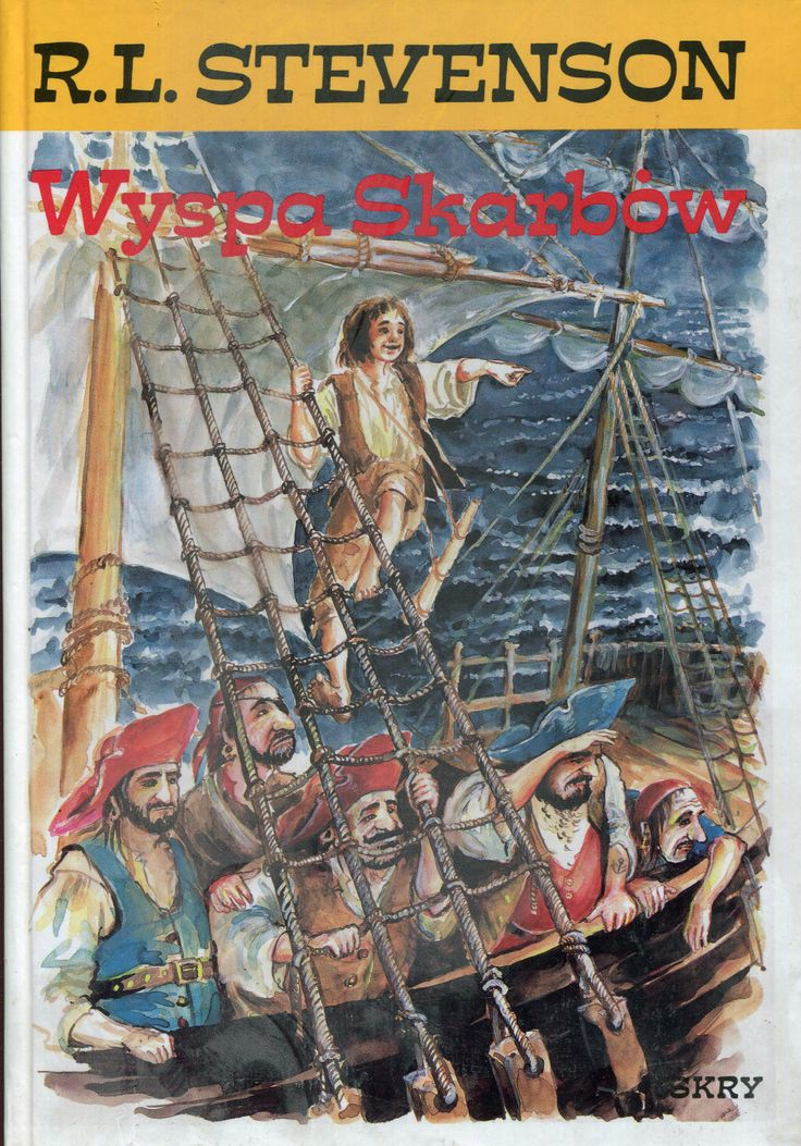 """Wyspa skarbów"" (Treasure Island) Robert Louis Stevenson Translated by Krystyna Tarnowska and Andrzej Konarek Cover by Katarzyna Słowiańska Published by Wydawnictwo Iskry 1994"