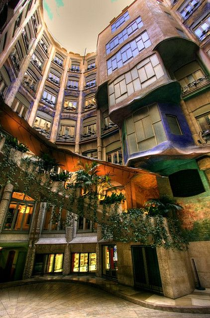 Casa Milà (better known as La Pedrera, meaning the 'The Quarry'), is a building designed by the Catalan architect Antoni Gaudí and built during the years 1906–1912. It is located in the Eixample district of Barcelona, Catalonia, Spain.