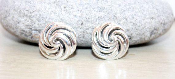 Womens Vintage Earrings Silver Knotted Swirl Earrings on Etsy, $4.48 CAD