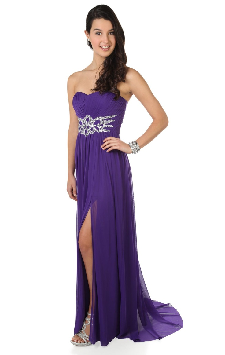 strapless #prom #dress with beaded stone flame accent  $84.50