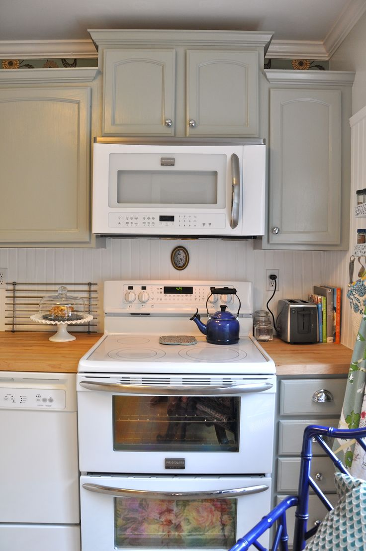 1000 ideas about over the stove microwave on pinterest for Kitchen cabinets not wood