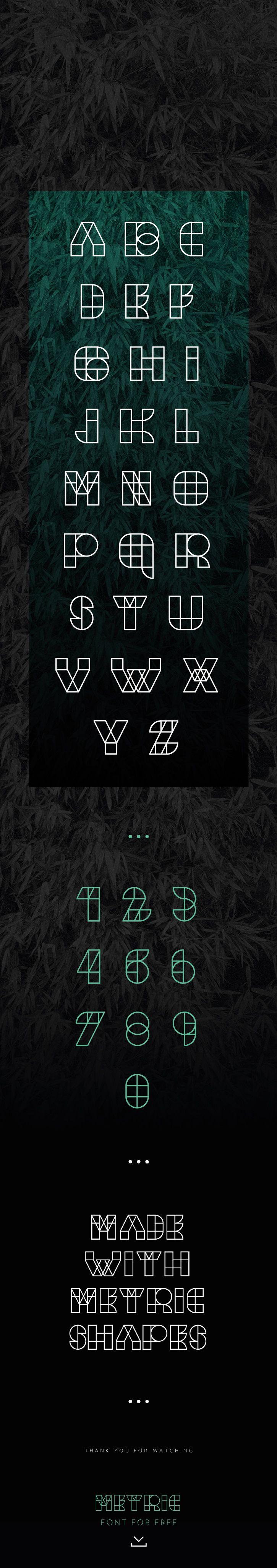 Metric Typography / Free Font