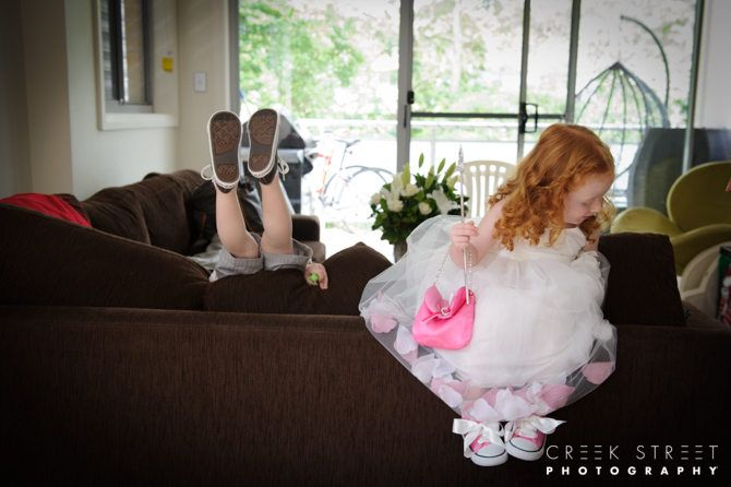 Love shooting kids at weddings - never a dull moment :) #flowergirl