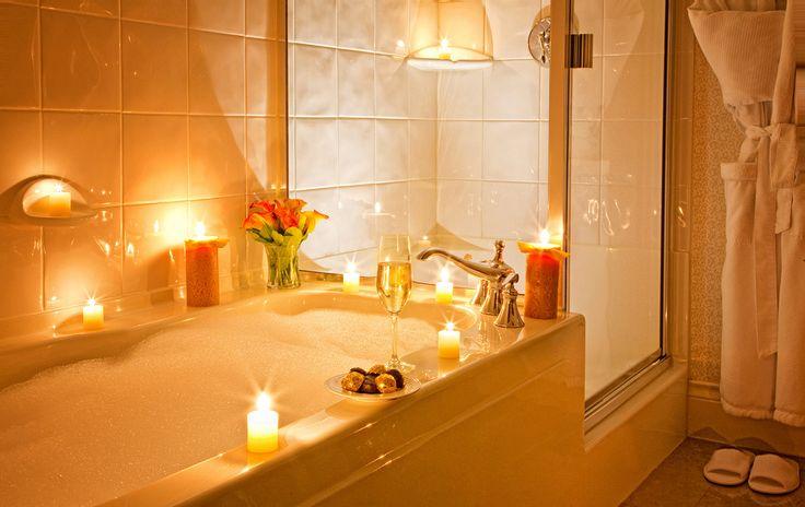 Candle lit bubble baths...