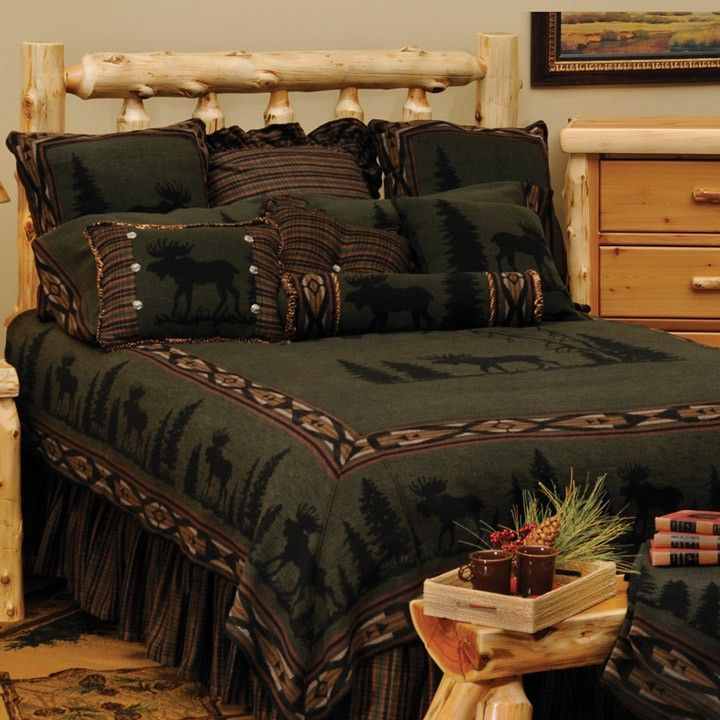 This Moose Cabin Bedding. Made In The USA!  Cabin Decor