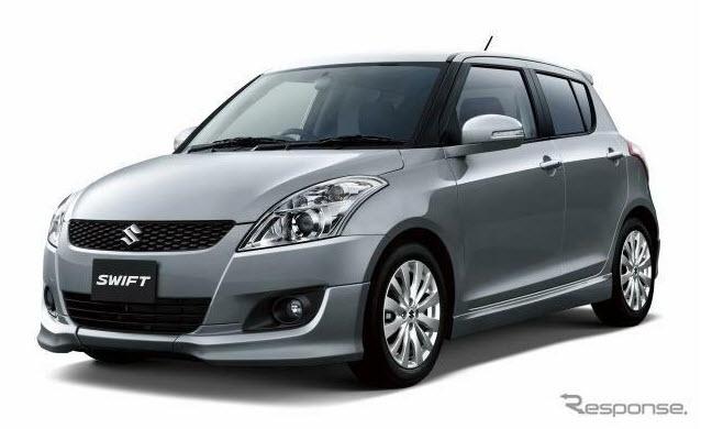 Suzuki Swift สีเงิน (Star Silver Metallic) ในชุดเเต่ง rs /// สวยๆ อยากได้นะ :P