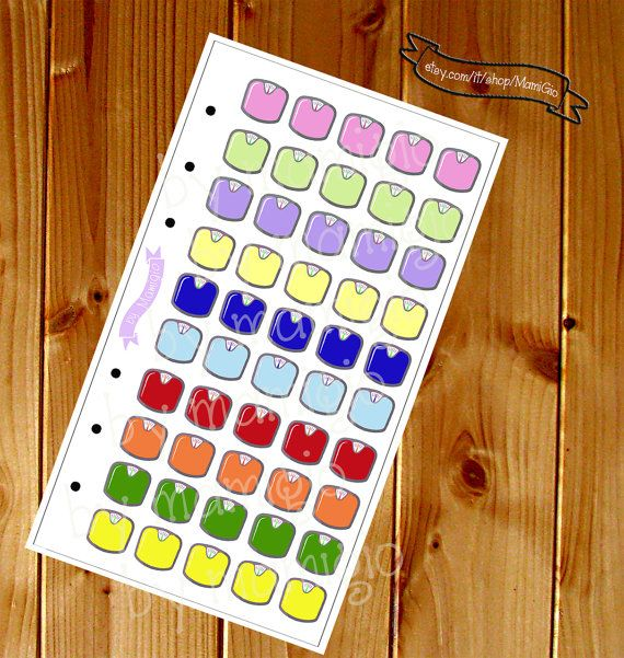 "Stickers ""controllo del peso""  #stickers #plannerstickers #planner"