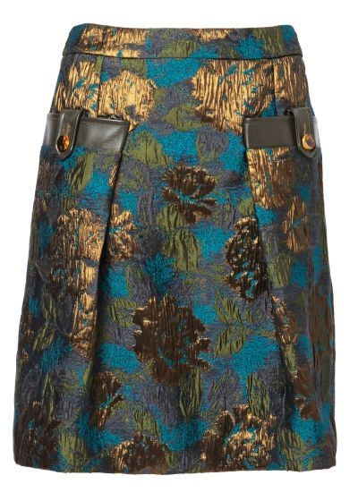 Matthew Williamson: ornate-brocade-tailored-skirt