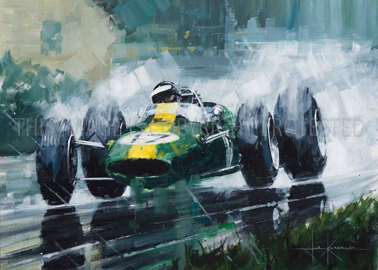 """A Masterful Display"" - Spa 1965 - Jim Clark in his winning Lotus 33 on his way to the 1965 championship title."