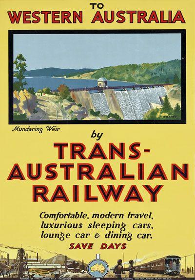 Western Australia by Trans Australian Railway Poster
