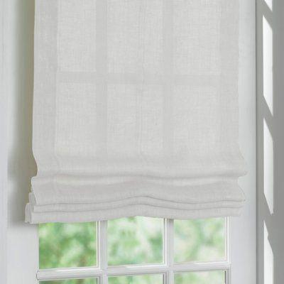 Tenda a pacchetto in lino bianco