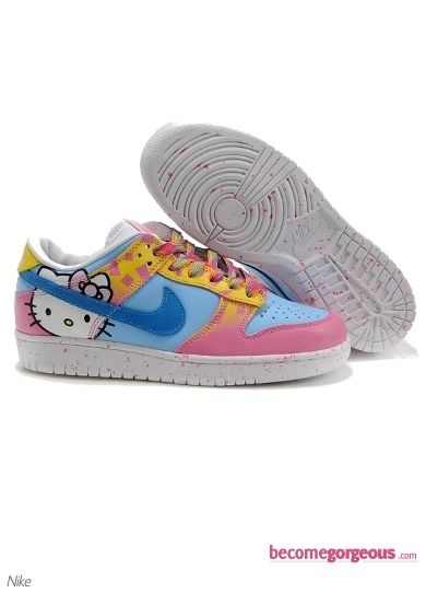Nike Dunk Low Hello Kitty Blue Pink Shoes  OMG!  My little girl would go crazy for these!