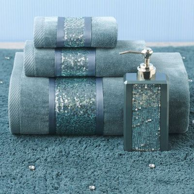 Sequin Shimmer Teal Bath Collection
